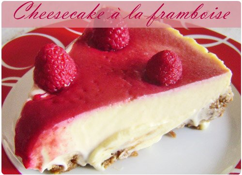 Cheesecake 224 La Framboise Et Coulis De Fruits Rouges