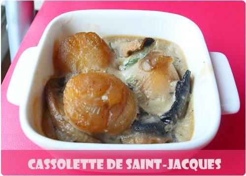 Cassolettes de saint jacques