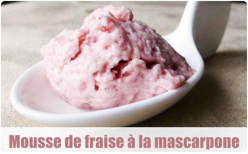 Dessert mascarpone confiture de fraise