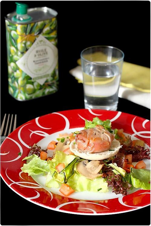 salade italienne aux l gumes grill s et ch vre chefnini. Black Bedroom Furniture Sets. Home Design Ideas