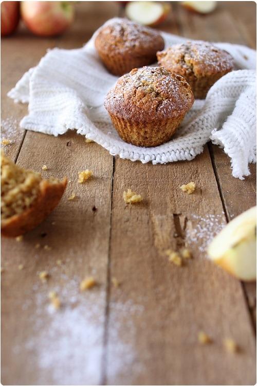 muffins aux flocons d avoine et pommes chefnini. Black Bedroom Furniture Sets. Home Design Ideas