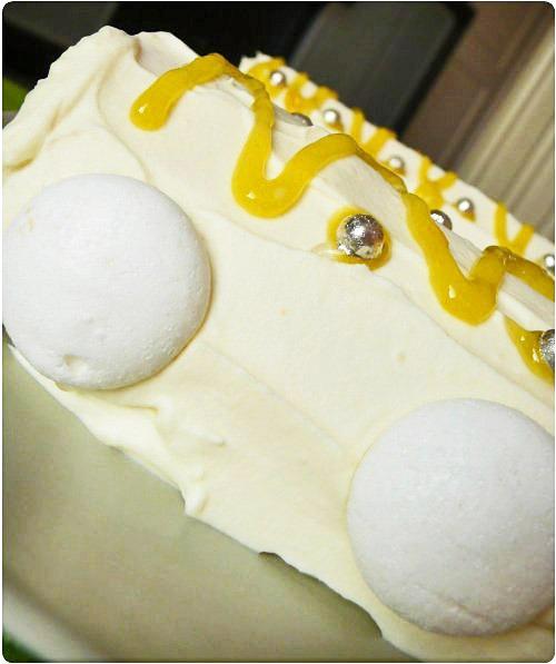 Bûche au citron, mousse chocolat blanc