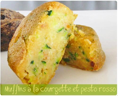 Mini muffin aux courgettes et pesto rosso