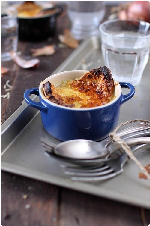 Soupe a l 39 oignon gratin e - Soupe a l oignon gratinee ...