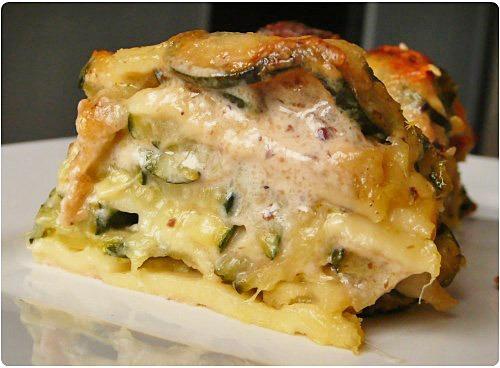 Lasagnes aux courgettes notes italiennes chefnini - Pate a la mozzarella ...