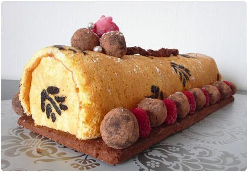 buche-vanille-truffes
