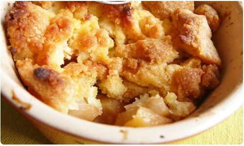 crumble-pomme-poire-polenta