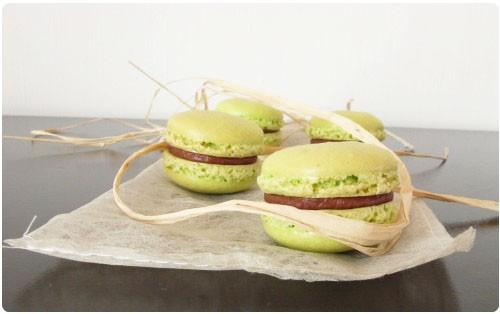 macaron-poire-belle-helene