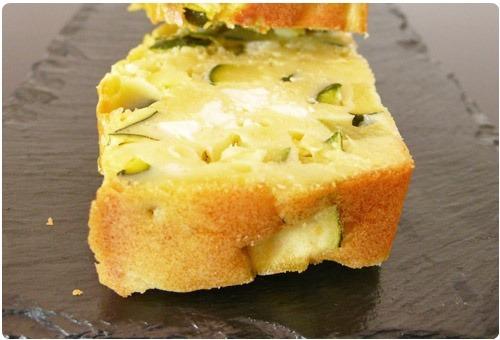 Cake Courgette Menthe Feta