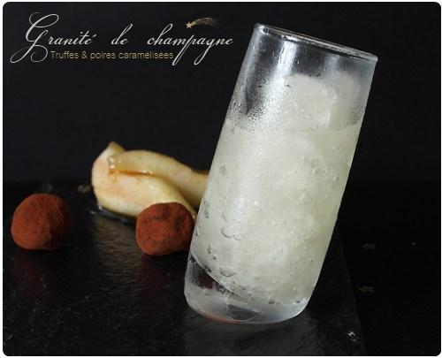 Granité de champagne, truffes et poires caramélisées | chefNini
