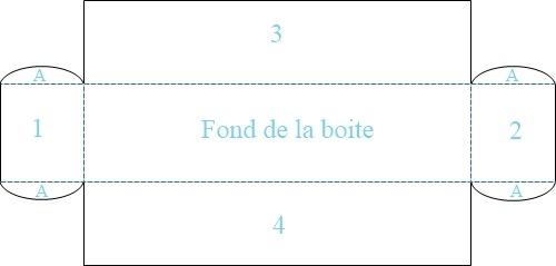Boites pour offrir des macarons chefnini - Gabarit boite en papier ...