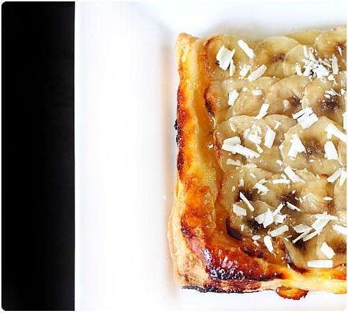 Tarte feuilletée ananas et banane