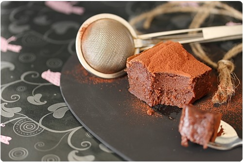 Gateau chocolat marron fondant