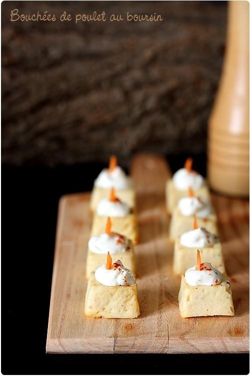 Bouchées de poulet au Boursin Cuisine ail & fines herbes