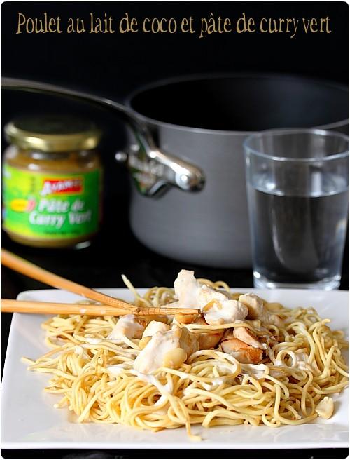 Poulet au lait de coco et p te de curry vert chefnini - Cuisine thai poulet curry vert ...