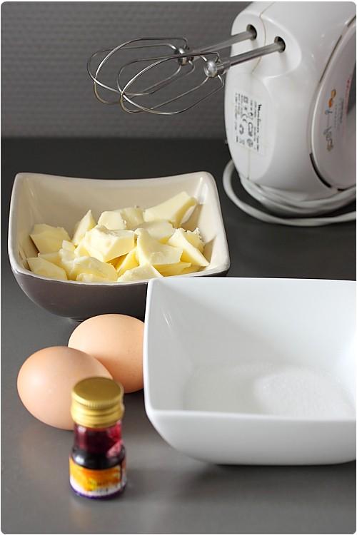 Crème au beurre à la meringue Suisse (pas à pas)
