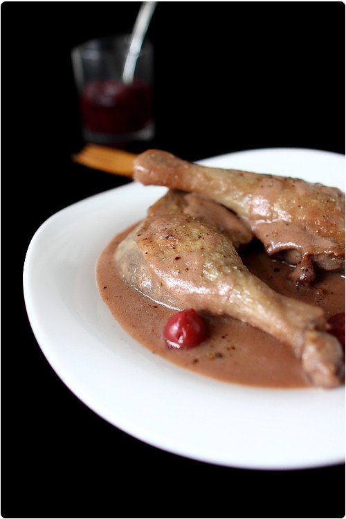 Cuisses de canard sauce griottes chefnini - Cuisse de canard en sauce ...
