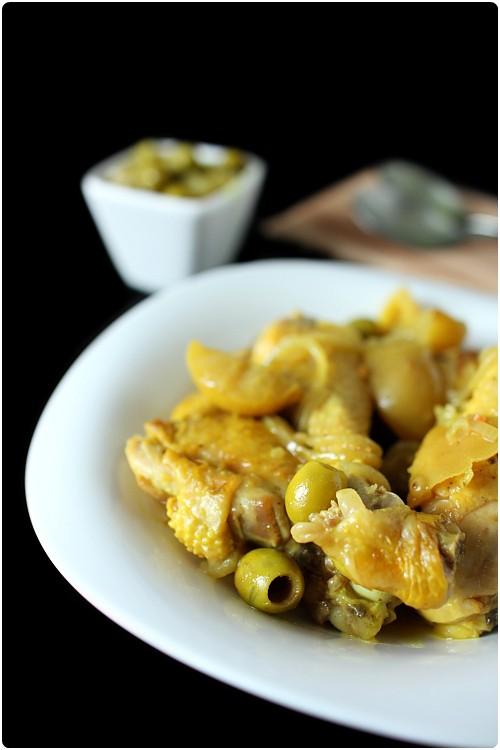 cuisses de poulet au citron confit et olives vertes chefnini. Black Bedroom Furniture Sets. Home Design Ideas