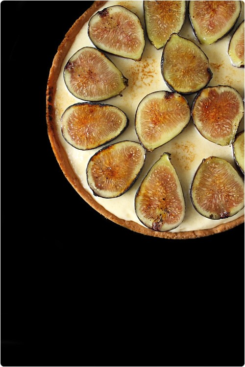 Tarte mascarpone, figues et miel