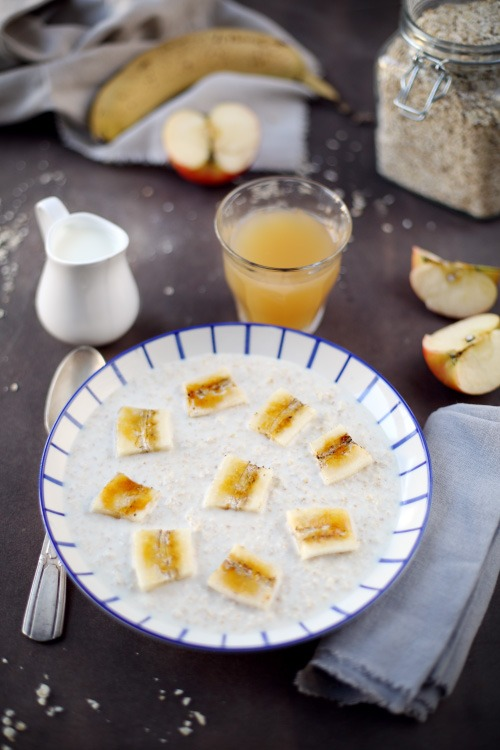 porridge-banane-caramelisee