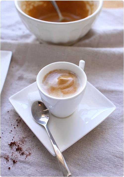 Café au lait mousseux