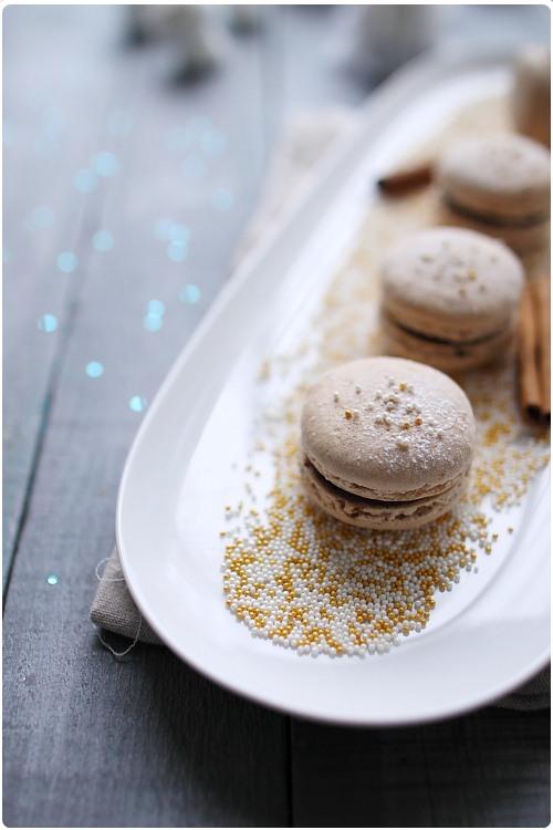 Macarons chocolat et cannelle