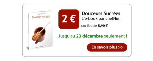Promo de Noël sur le book Douceurs sucrées.