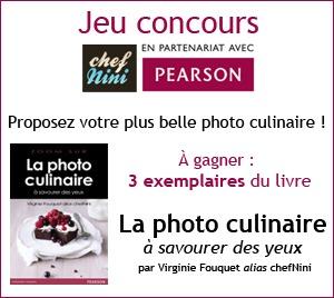 3 exemplaires de mon livre La photo culinaire à gagner