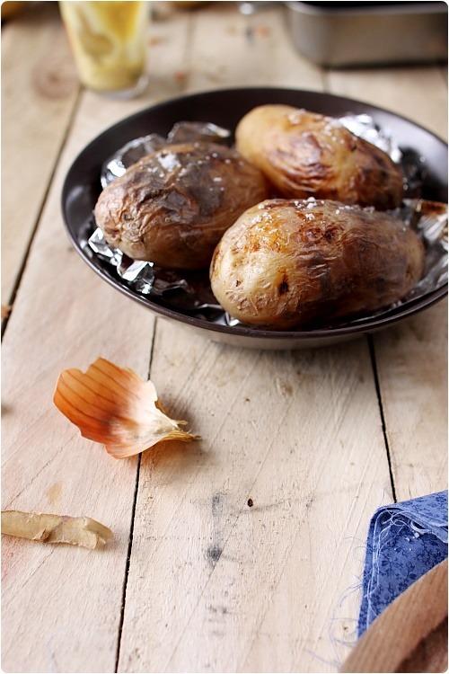Poulet r ti au balsamique et pommes de terre en robe des - Pommes de terre en robe de chambre au four ...