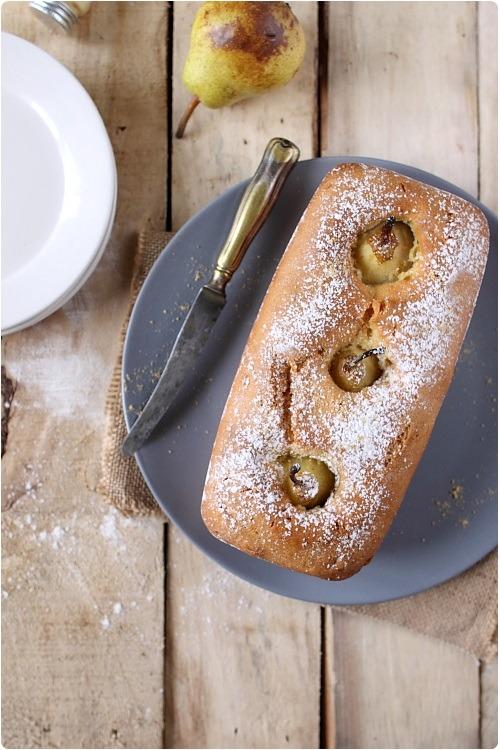cake-poire-pochee-gingembre