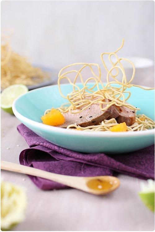 salade-magret-miel-nouilles-frites5