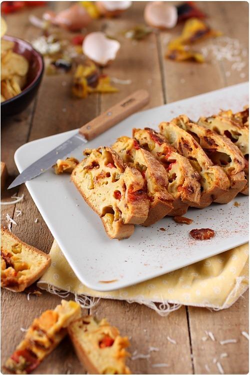 cake-poivrons-grilles-chorizo3