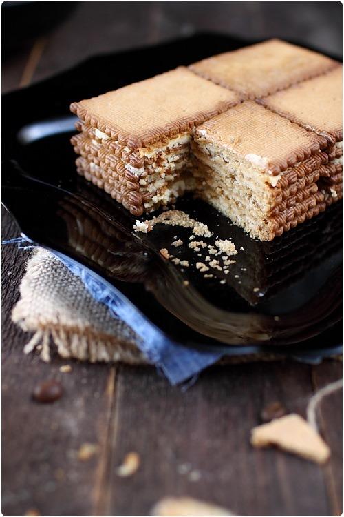 Recette de gateau au galette brun