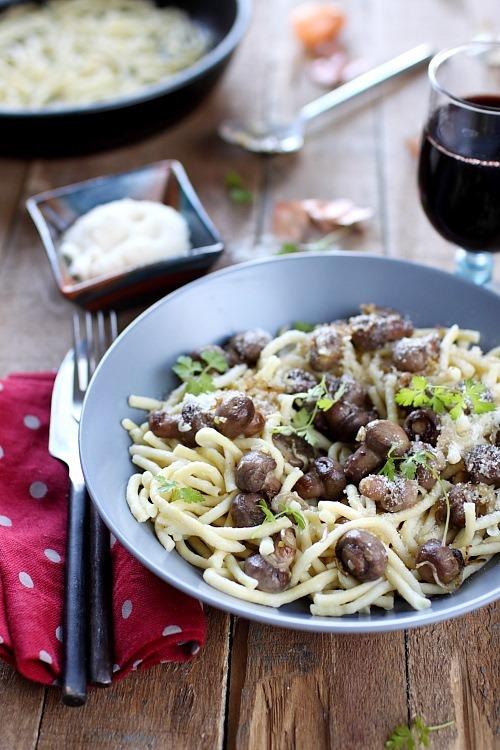 spatzle-champignons-echalote-parmesan