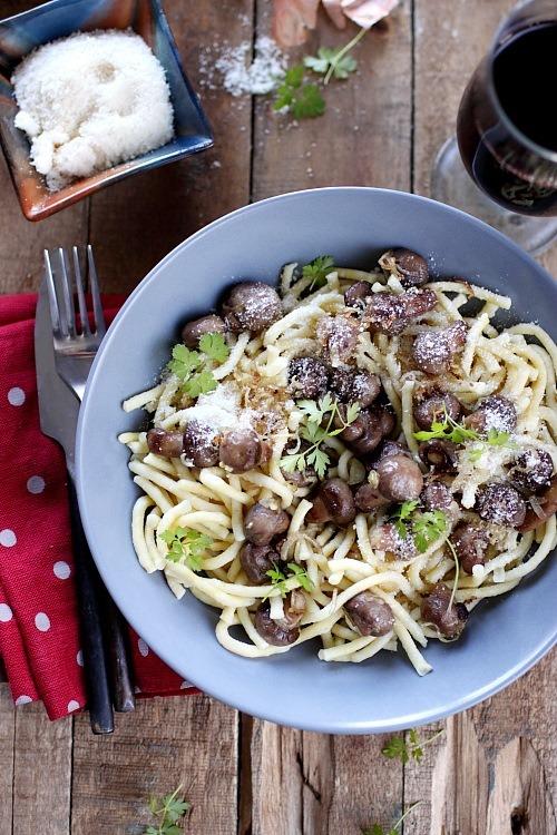 Sp tzels aux champignons et parmesan chefnini - Application pour reconnaitre les champignons ...