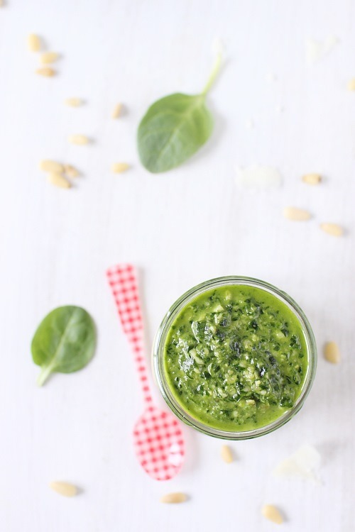 Pesto de pousse dépinard