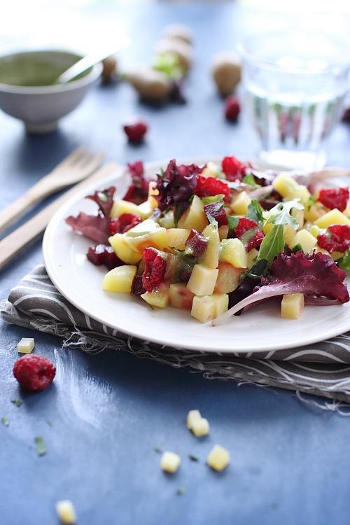 salade-pommes-de-terre-framboise