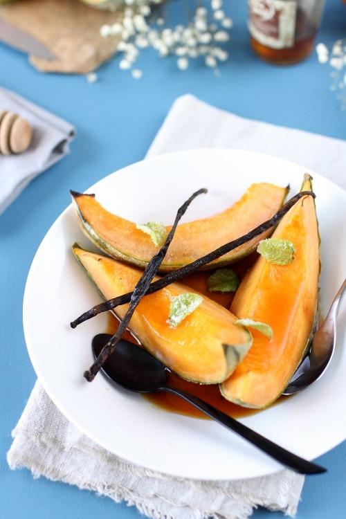 Melon rôti au four