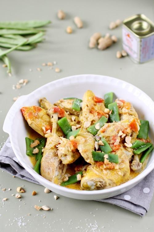 Poulet coco aux haricots plats