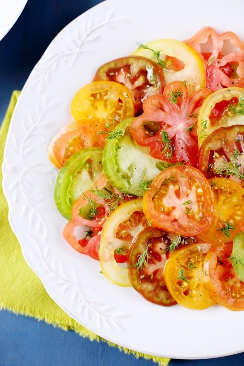 salade de tomates anciennes l 39 aneth chefnini. Black Bedroom Furniture Sets. Home Design Ideas