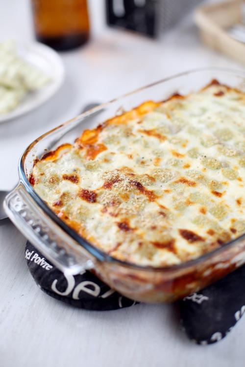 Lasagne de ravioles façon bolognaise