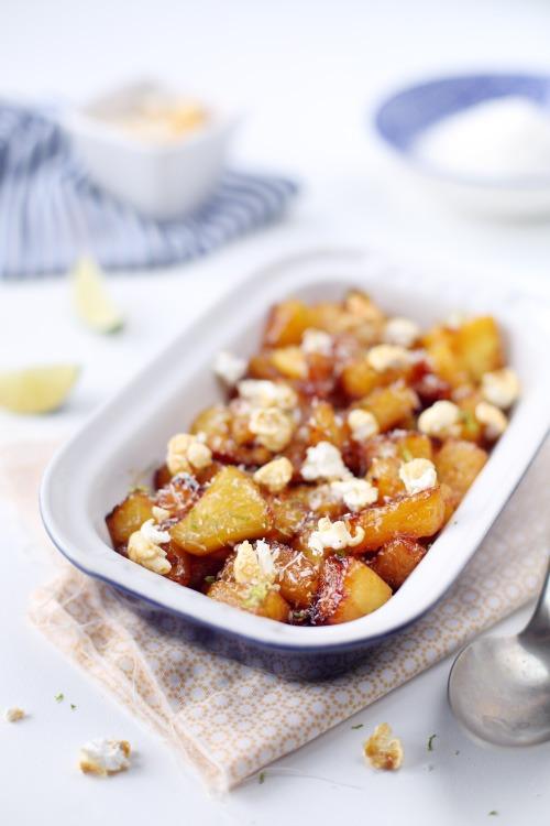ananas-caramelises-citron-vert-popcorn
