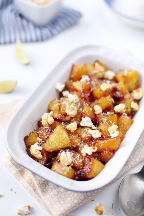 ananas-caramelises-citron-vert-popcorn2