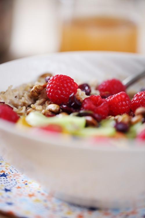 porridge-noisette-fruis-frais