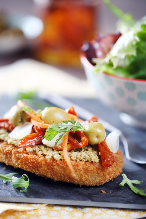 tartine-escalope-vege