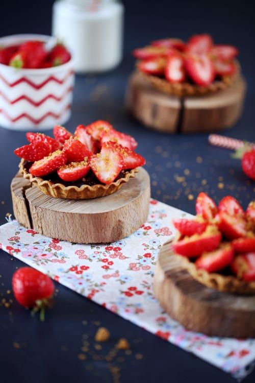 tartelettes-chocolat-fraises