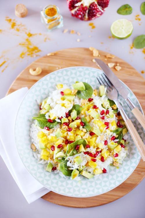 salade-riz-ananas