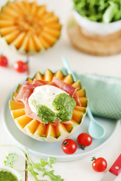 salade-melon-burrata-roquette