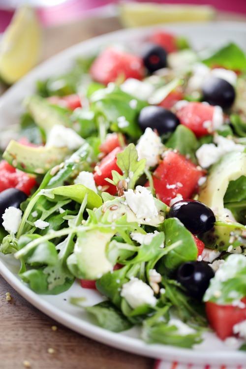 Salade fra che la past que et la feta chefnini - Salade de pasteque ...