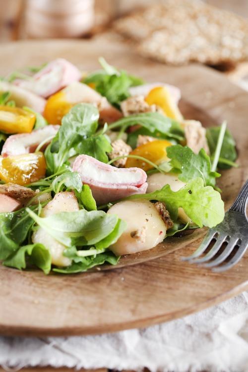 salade-peche-mozzarella